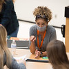 Judith Harris working with Learning Community students at SUNY Buffalo State College.