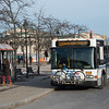 Bus stop at the corner of Rockwell Road and Elmwood Avenue at SUNY Buffalo State College.