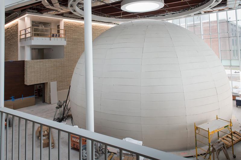 New Whitworth Ferguson Planetarium under construction at SUNY Buffalo State College.
