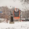 Buffalo State College sign near Elmwood Avenue at SUNY Buffalo State College.