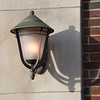 Entrance lamp on Rockwell Hall at SUNY Buffalo State College.