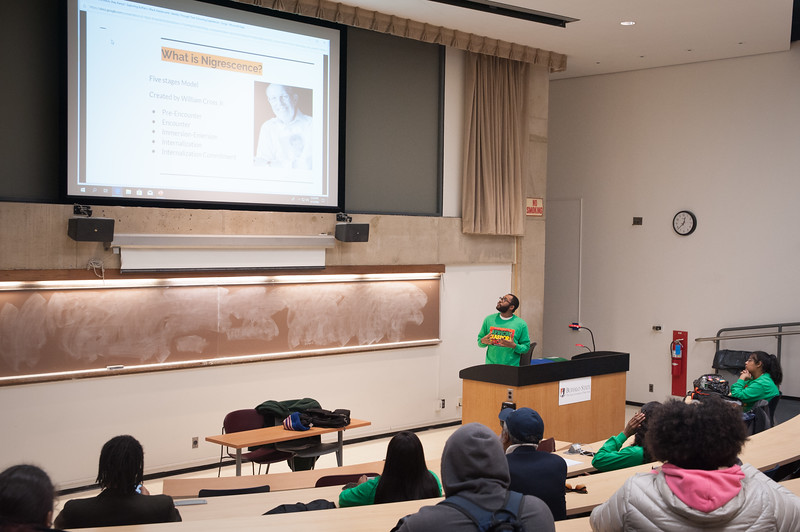 Africana Studies student research presentations at SUNY Buffalo State.