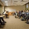 Student organizations discuss Africana Studies  at SUNY Buffalo State.