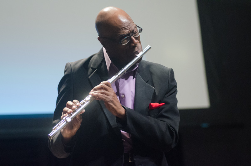"""""""Jazz and the Civil Rights Movement"""" lecture and  performance by Galen Abdur-Razzaq at SUNY Buffalo State College."""