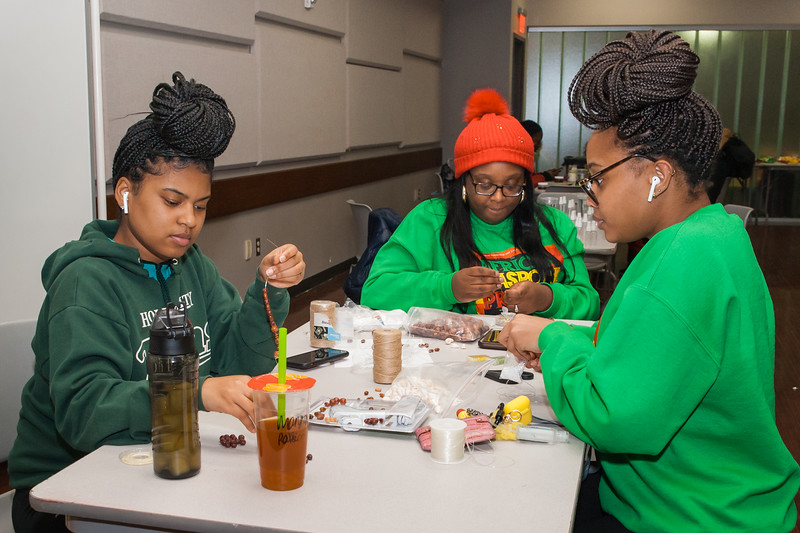 African Diaspora Project DIY cultural crafts event at SUNY Buffalo State College.