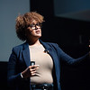 """Dr. Crystal Fleming speaking on """"Race Stupidity"""" , the keynote address during Black History Month activities at SUNY Buffalo State College."""