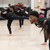 Modern Dance class at SUNY Buffalo State College.