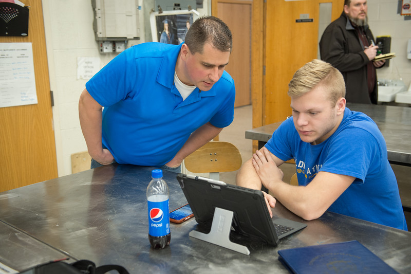 SUNY Buffalo State College alumni involved with teaching technology education at Alden High School.