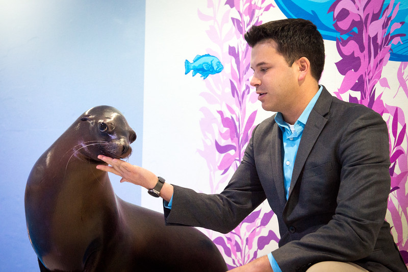 Aquarium of Niagara Executive Director and SUNY Buffalo State College alumnus Gary Siddall at the Aquarium of Niagara.