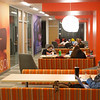 Students studying in Academic Commons area of newly renovated E.H. Butler Library at SUNY Buffalo State College.