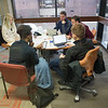 Students studying in Student Union meeting room at SUNY Buffalo State College.