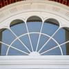 Fan window in Rockwell Hall at SUNY Buffalo State College.