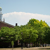 Summer campus scenes at SUNY Buffalo State College.