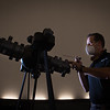 Star projector being installed in new Whitworth Ferguson Planetarium at SUNY Buffalo State College.