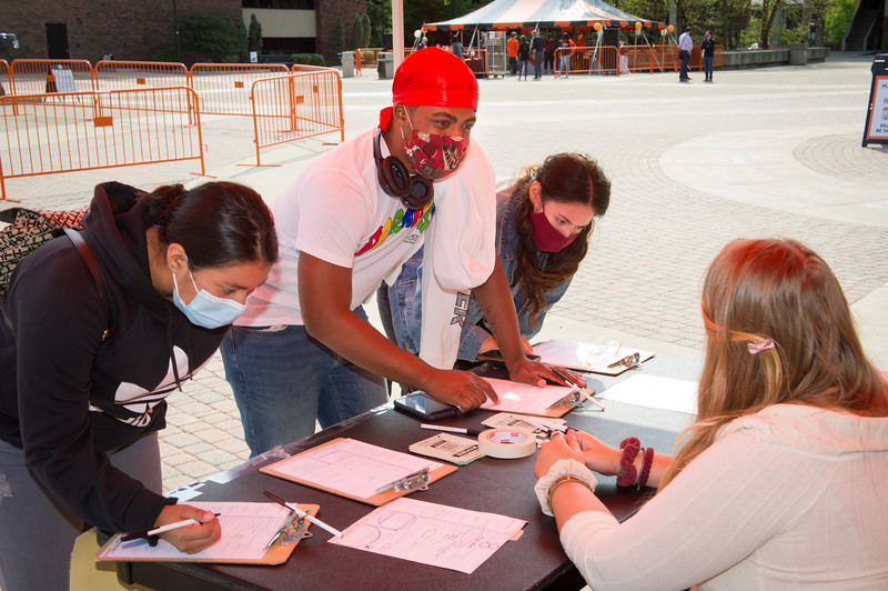 Voter registration event at SUNY Buffalo State College.