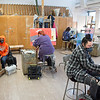 Painting classes in Upton Hall art studios at SUNY Buffalo State College.