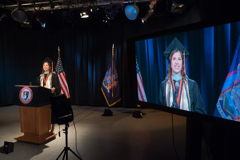 2020 Virtual commencement graduate student speaker, Christine Garas at SUNY Buffalo State College.