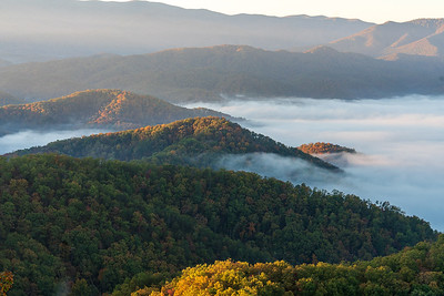 0DA079,DN,Autumn sunrise in the Great Smoky Mountains