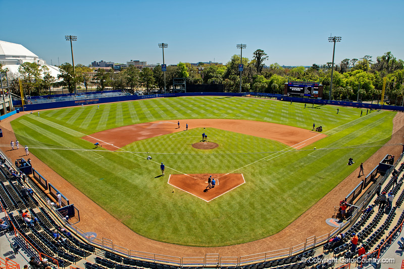 McKethan Stadium as the #1 Florida Gators finish off the sweep of the Troy Trojans with a 7-1 win at McKethan Stadium in Gainesville, Florida on March 1st, 2020 (Photo by David Bowie/Gatorcountry)