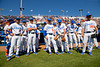 The Florida Gators prepare to take the field as the #1 Gators finish off the sweep of the Troy Trojans with a 7-1 win at McKethan Stadium in Gainesville, Florida on March 1st, 2020 (Photo by David Bowie/Gatorcountry)