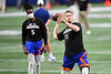 Florida Gators quarterback Kyle Trask (11) throwing during pre-game as the Florida Gators and Alabama Crimson Tide face off in the 2020 SEC Championship Ben Hill Griffin Stadium in Atlanta, Georgia on December 19th, 2020 (Photo by David Bowie/Gatorcountry)