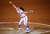 Florida Gators softball pitcher Elizabeth Hightower pitching as the Gators hosted Team USA at Katie Seashole Pressly Stadium in Gainesville, Florida on February 11th, 2020 (Photo by David Bowie/Gatorcountry)