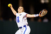 Florida Gators softball pitcher Natalie Lugo pitching as the Gators hosted Team USA at Katie Seashole Pressly Stadium in Gainesville, Florida on February 11th, 2020 (Photo by David Bowie/Gatorcountry)