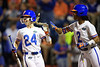 Florida Gators softball outfielder E.C. Taylor and Florida Gators softball outfielder Cheyenne Lindsey celebrate as the Gators hosted Team USA at Katie Seashole Pressly Stadium in Gainesville, Florida on February 11th, 2020 (Photo by David Bowie/Gatorcountry)