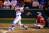 Florida Gators softball C/1B Kendyl Lindaman hits a two run home run  as the Gators hosted Team USA at Katie Seashole Pressly Stadium in Gainesville, Florida on February 11th, 2020 (Photo by David Bowie/Gatorcountry)