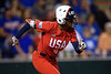 Former Gator Great Michelle Moultrie at the plate as the Gators hosted Team USA at Katie Seashole Pressly Stadium Gainesville, Florida on February 11th, 2020 (Photo by David Bowie/Gatorcountry)