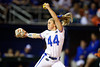 Florida Gators softball pitcher Rylee Trlicek pitching as the Gators hosted Team USA at Katie Seashole Pressly Stadium in Gainesville, Florida on February 11th, 2020 (Photo by David Bowie/Gatorcountry)