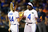 Florida Gators softball third basemen Charla Echols and Florida Gators softball pitcher Rylee Trlicek as the Gators hosted Team USA at Katie Seashole Pressly Stadium in Gainesville, Florida on February 11th, 2020 (Photo by David Bowie/Gatorcountry)