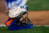 A Florida Gators catchers mask as the Gators hosted Team USA at Katie Seashole Pressly Stadium Gainesville, Florida on February 11th, 2020 (Photo by David Bowie/Gatorcountry)