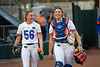 Florida Gators softball softball pitcher Katie Chronister and Florida Gators softball catcher Jordan Roberts as the Gators hosted Team USA at Katie Seashole Pressly Stadium Gainesville, Florida on February 11th, 2020 (Photo by David Bowie/Gatorcountry)