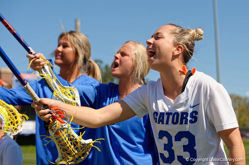 Florida Gators womens lacrosse defender Kaitlyn Dabkowski during pregame as the #8 ranked Gators come from behind to beat the #3 ranked Stony Brook Seawolves 12-10 at Donald R. Dizney Stadium in Gainesville, Florida on February 29th, 2020 (Photo by David Bowie/Gatorcountry)