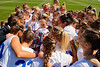 The Florida Gators womens lacrosse team gather together during the pregame as the #8 ranked Gators come from behind to beat the #3 ranked Stony Brook Seawolves 12-10 at Donald R. Dizney Stadium in Gainesville, Florida on February 29th, 2020 (Photo by David Bowie/Gatorcountry)