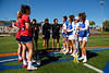Florida Gators womens lacrosse midfielder Shannon Kavanagh and Florida Gators womens lacrosse defender Cara Trombetta during the pregame as the #8 ranked Gators come from behind to beat the #3 ranked Stony Brook Seawolves 12-10 at Donald R. Dizney Stadium in Gainesville, Florida on February 29th, 2020 (Photo by David Bowie/Gatorcountry)