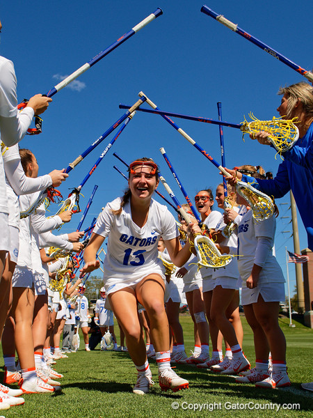 Florida Gators womens lacrosse attacker Kaala Puglisi during pregame as the #8 ranked Gators come from behind to beat the #3 ranked Stony Brook Seawolves 12-10 at Donald R. Dizney Stadium in Gainesville, Florida on February 29th, 2020 (Photo by David Bowie/Gatorcountry)
