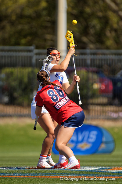 Florida Gators womens lacrosse midfielder Shannon Kavanagh during the first half as the #8 ranked Gators come from behind to beat the #3 ranked Stony Brook Seawolves 12-10 at Donald R. Dizney Stadium in Gainesville, Florida on February 29th, 2020 (Photo by David Bowie/Gatorcountry)