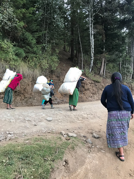 Women carrying load