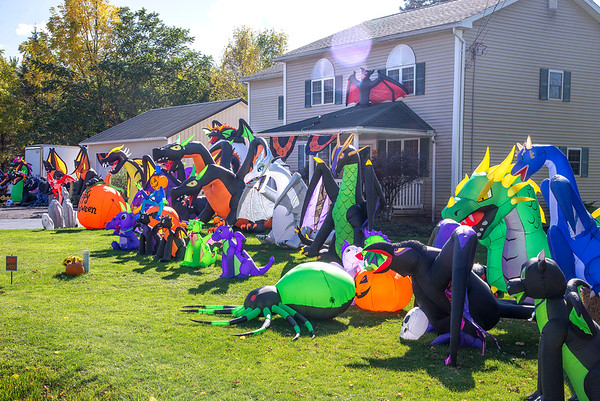 201016 Halloween House 2<br /> James Neiss/staff photographer <br /> Lockport, NY - This home on Lake Road in Wrights Corners is over the top Halloween.