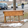 James Neiss/staff photographer <br /> Niagara Falls, NY - Discarded furniture seems to be a good place to catch a cat nap along Cleveland Avenue in Niagara Falls.