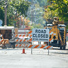 200923 Enterprise 6<br /> James Neiss/staff photographer <br /> Lockport, NY - Railroad track repair continues, blocking Prospect Street between Ontario and Caledonia.