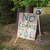 200803 Enterprise 1<br /> James Neiss/staff photographer <br /> Wilson, NY - Sign of the Times - Political sign season is upon us as the United States prepares for a presidential election in November. Held up with a broom handle, this homemade sign was spotted Monday on Lake Road in Wilson.