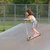 200916 Enterprise 1<br /> James Neiss/staff photographer <br /> Lockport, NY - Show No Fear - Penelope Howes, 6, takes on a hill at the Lockport Skatepark like a champion.