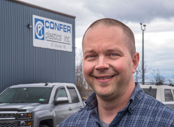 James Neiss/staff photographer <br /> North Tonawanda, NY - Bob Confer of Confer Plastics.