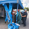 200901 Safety Expo 2<br /> James Neiss/staff photographer <br /> Lewiston, NY - Christine Brueckner with Niagara County Hazmatt, left, talks about HazMat safety equipment at Mount Saint Mary's Safety & Preparedness Expo.