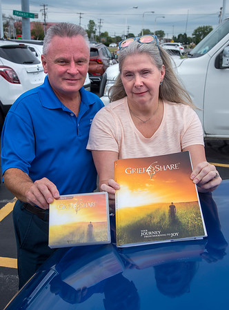 200908 Grief Counselors 2<br /> James Neiss/staff photographer <br /> Lockport, NY - Kim and Bob Davidson are leading grief counseling sessions starting September 15, at the Lockport Alliance Church.