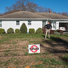 201112 Solar Pt 3 B<br /> James Neiss/staff photographer <br /> Lockport, NY - Richard Brown is leaning against solar in lockport concerned about the effect on property values.
