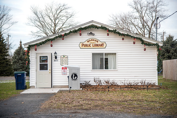 James Neiss/staff photographer <br /> Cambria, NY - A new library was established after a fire burned down the Barker Town Hall and Library.